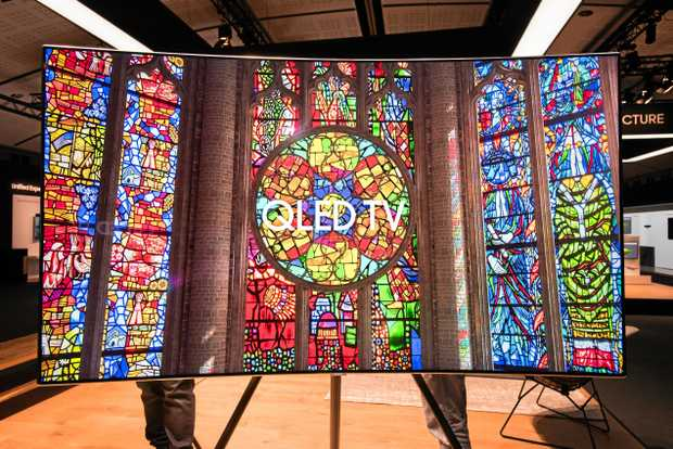 Samsung's QLED television range features vivid colours and deep blacks.