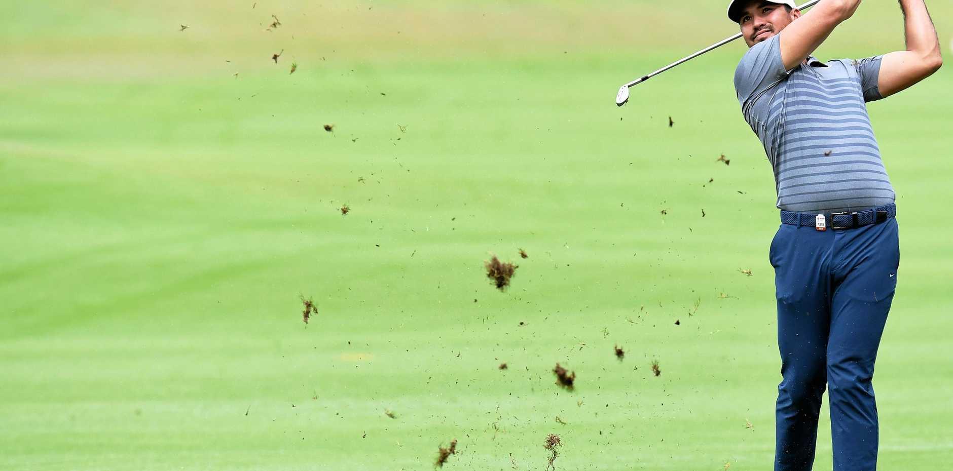 Jason Day fires a fairway shot during the Australian Open Golf Championship Pro-Am at The Australian Golf Club in Sydney.