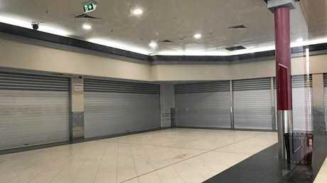 The empty Westside Plaza building.