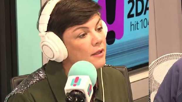 Em Rusciano on her radio show.