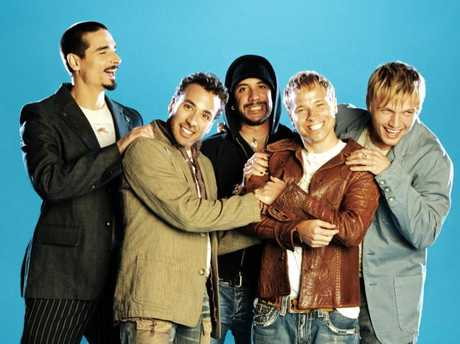As one-fifth of the Backstreet Boys, Carter (far right) was a teen heart throb to millions.