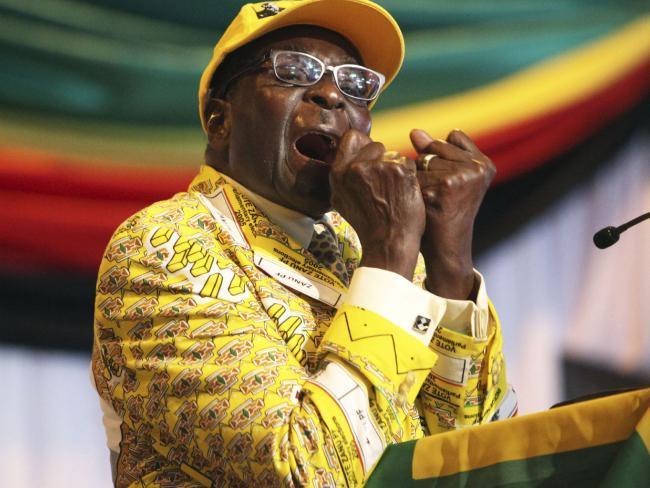Robert Mugabe has ruled Zimbabwe with an iron fist for 37 years. Picture: AP Photo/Tsvangirayi Mukwazhi