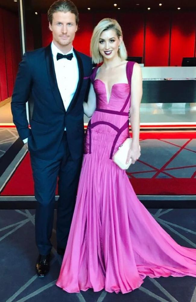 Alex Nation and Richie Strahan at Logies 2017. Picture: Instagram