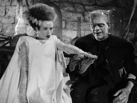 Elsa Lanchester and Boris Karloff in the 1935 film The Bride of Frankenstein. Picture: Universal Pictures