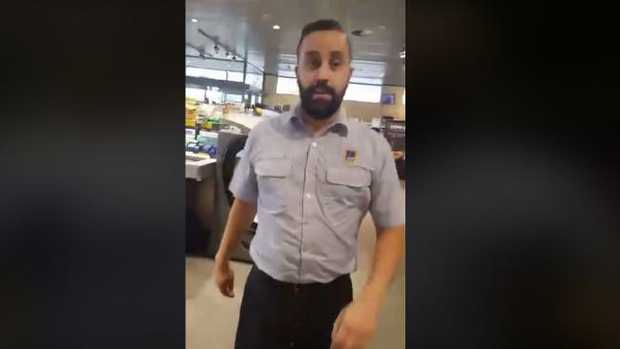 Aldi manager filmed kicking out a student.