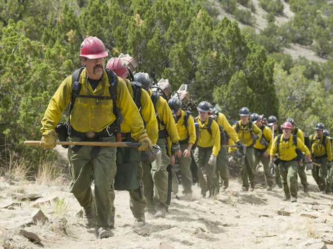 Josh Brolin in a scene from the movie Only The Brave.