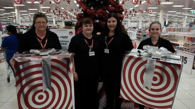 Target Grand Central's Gaye Qualischefski, Erica Tillack. Maddie Linnett and Emily Cavanagh.