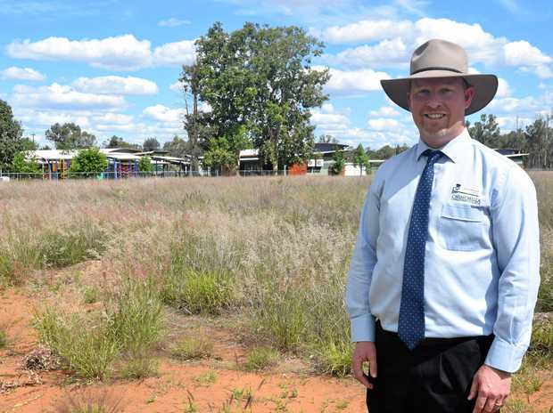 SCHOOL EXPANSION: Principal Nathan McDonald on the land where developments will start in early 2018.