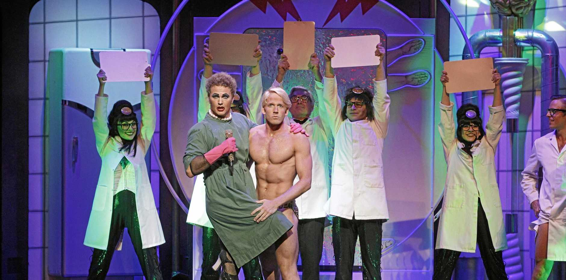 Craig McLachlan and Brendan Irving ham it up in The Rocky Horror Picture Show, which returns to QPAC this month.