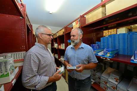 Brothers Steven and Mark Perissinotto sell vet products.