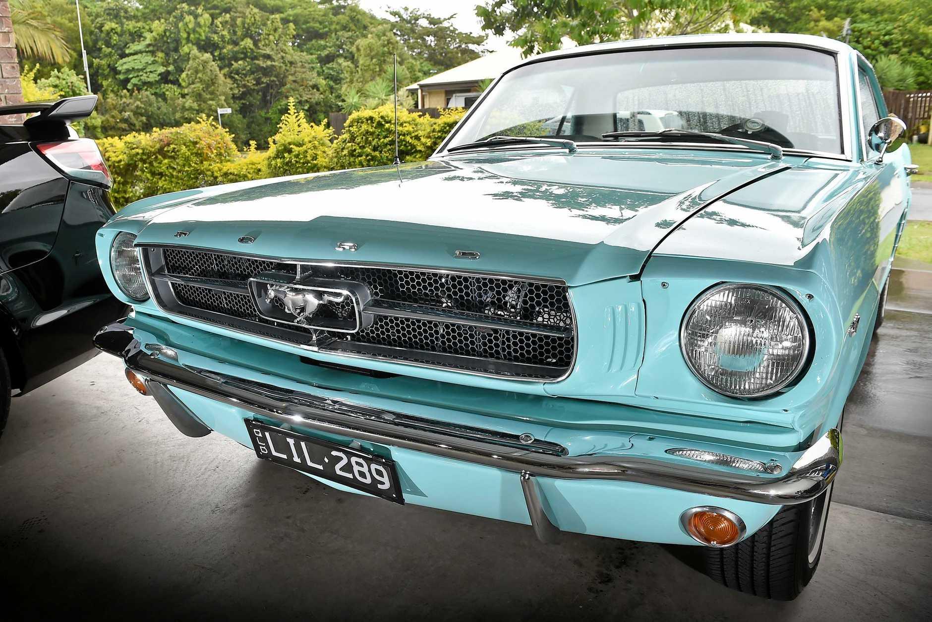 Lifelong Holden fan Caroline U'Pritchard shocked everyone by jumping ship to buy a 1965 Mustang last year.