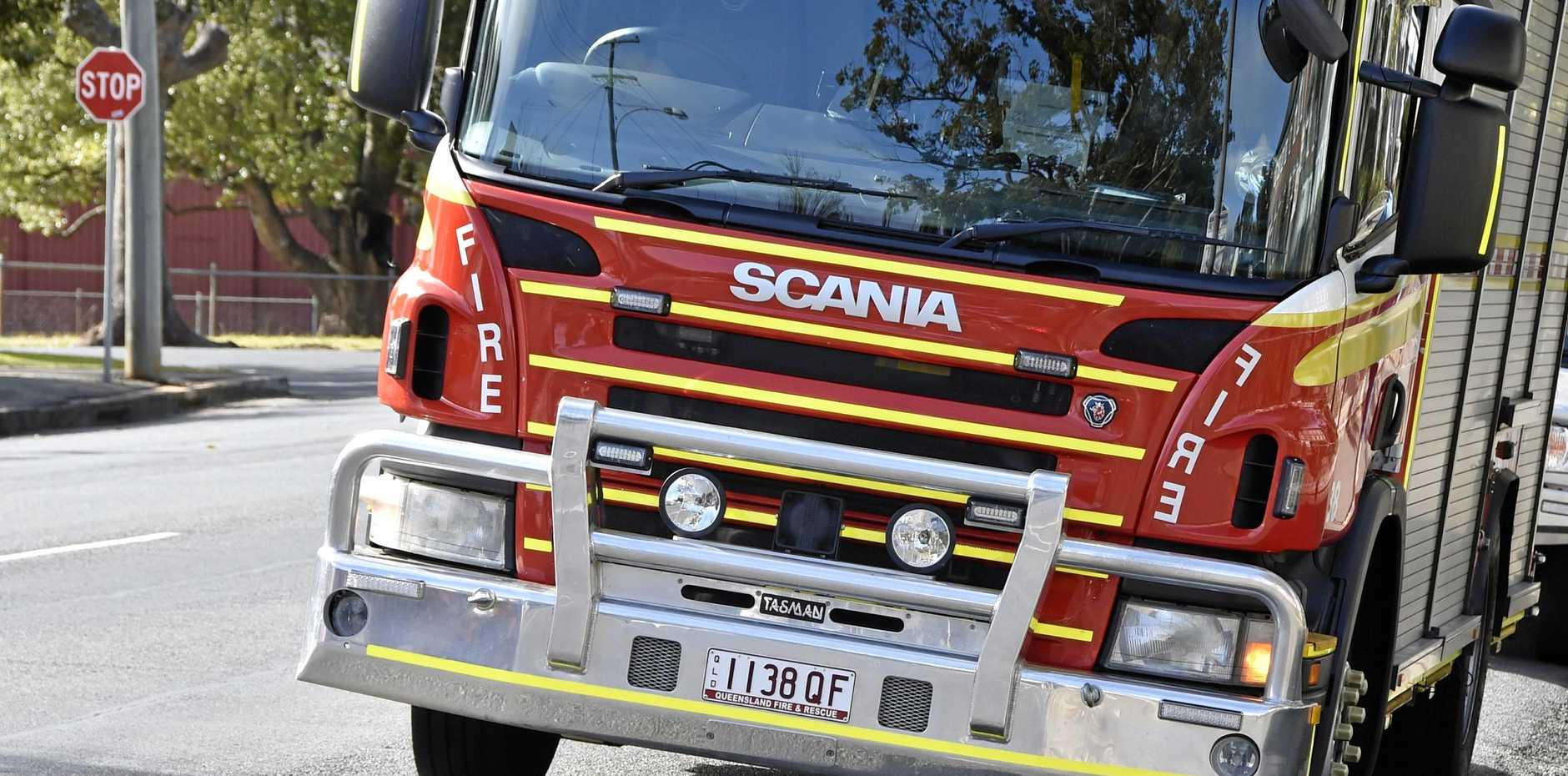 Crews have been called to the scene of a house fire at Sunshine Beach.