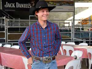 Jackson Gray at the Great Western Hotel rodeo arena.