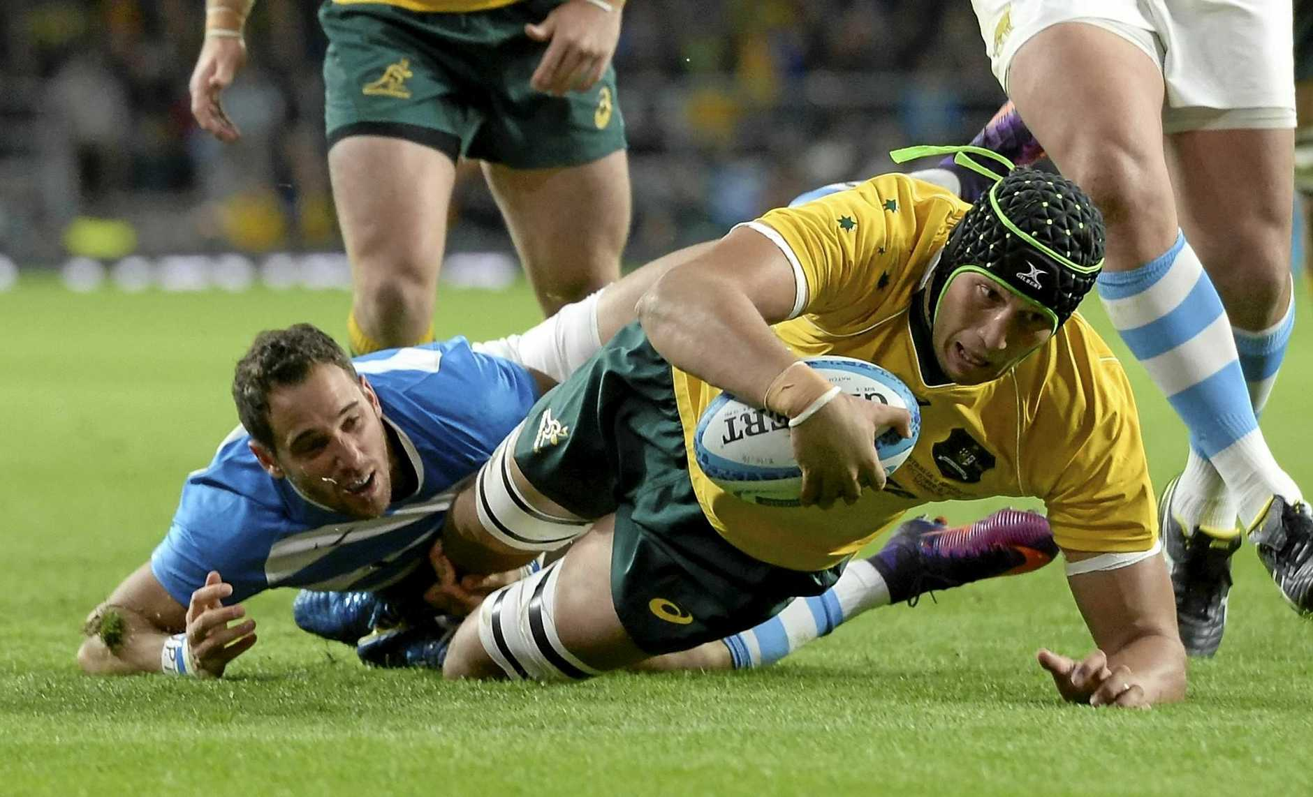 Adam Coleman in action for the Wallabies.