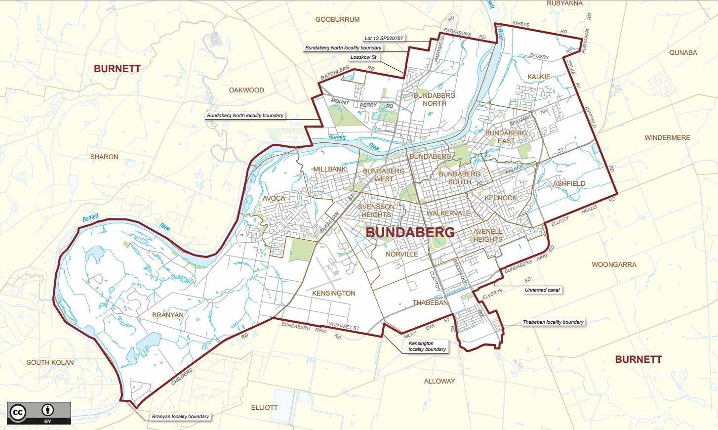 SURROUNDED: The seat of Bundaberg is surrounded by Burnett.
