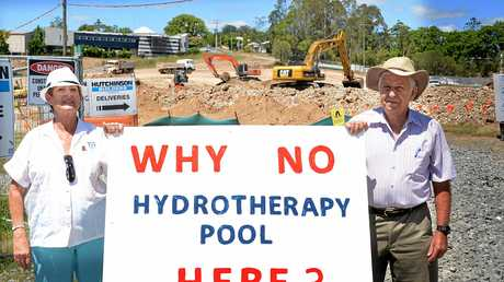Tony Perrett has promised $500,000 for a hydrotherapy pool.
