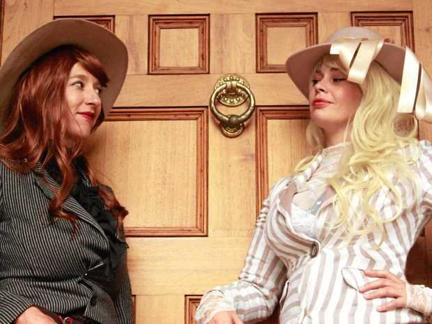 LADIES' GAME: Gleny Rae and Ilona Harker star in  The Daughters of the Rum Rebellion .