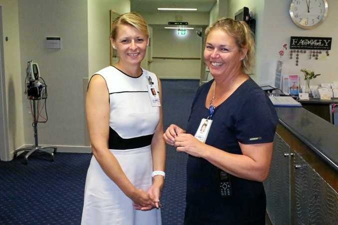 HOSPITAL WITH HEART: Buderim Private Hospital director of clinical services Rae Priualx and clinical nurse manager (Ward 4B) Jenny Nicoll.