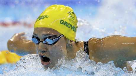 Madeline Groves on her way to a silver medal in the 200m butterfly at the Rio Olympics.