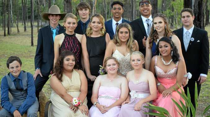 GRADUATED: Mundubbera State School year 10 students on their formal night held November 23, 2017.