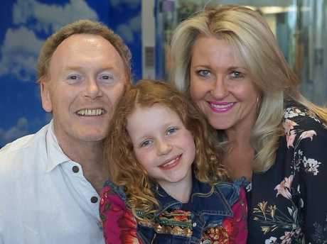 Peter and Angela with their dauguter, Amelia (centre). Picture: Supplied
