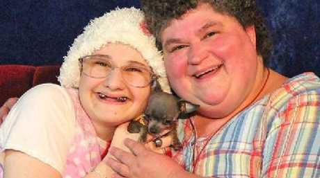 Gypsy Rose Blanchard, left, was forced in to a wheelchair and had her head shaved so she appeared unwell.
