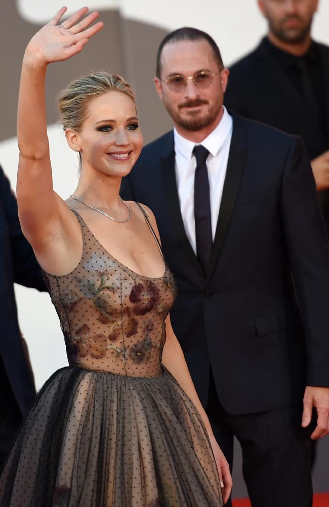 Jennifer Lawrence and Darren Aronofsky repeatedly gushed about each other in interviews. Picture: Splash News