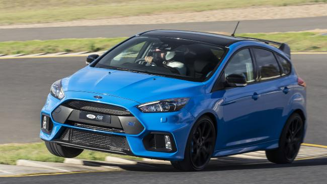 The Ford Focus RS Limited Edition has landed in Australia. Once these 500 are sold there will be no more. Picture: Supplied.