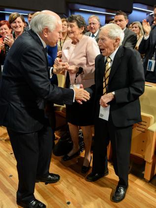 Richard Abbott meets former Prime Minister John Howard.