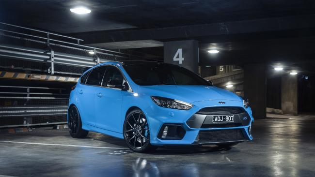 Updated Ford Focus RS gets no more power but plenty more grip. Picture: Supplied.