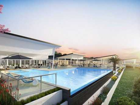 Artist's impression of what Palm Lake Resort Toowoomba will look like.