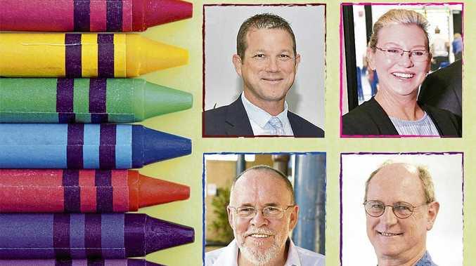Election candidates David Batt, Leanne Donaldson, Ric Glass and Alan Corbett.