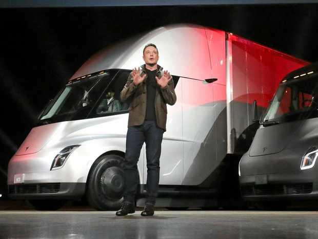 ELECTRIC INTRODUCTION: Tesla founder Elon Musk announces the Tesla Semi and the Tesla Roadster.