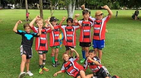 The victorious under-10s Barbarians.