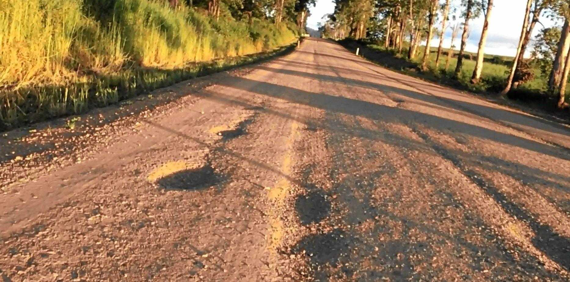 The terrible condition of Koumala Range Rd.