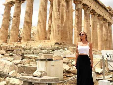 Noosa's Katariina Holroyd in Athens.