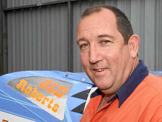 STEP UP: V8 Dirt Modifieds driver Phillip Roberts.