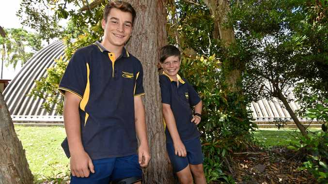 Southern Cross Primary School students Jake Topper, 12 and Daykin Stanger, 12 are off to Adelaide.