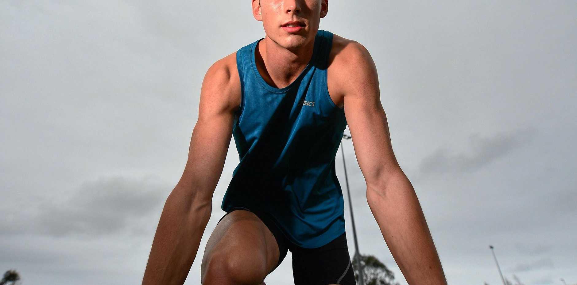 TEENAGE TALENT: Sprinter Zane Branco.