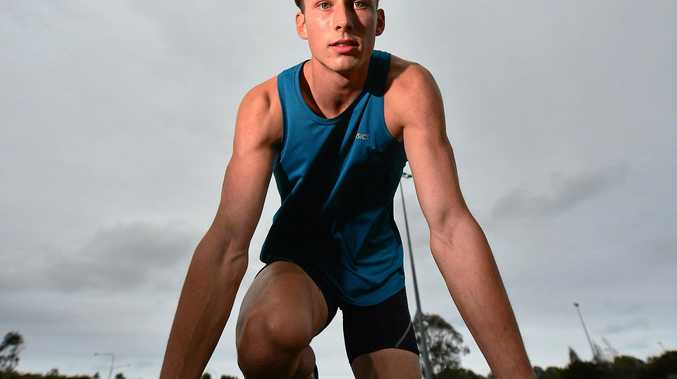 TEENAGE TALENT: Sprinter Zane Branco.