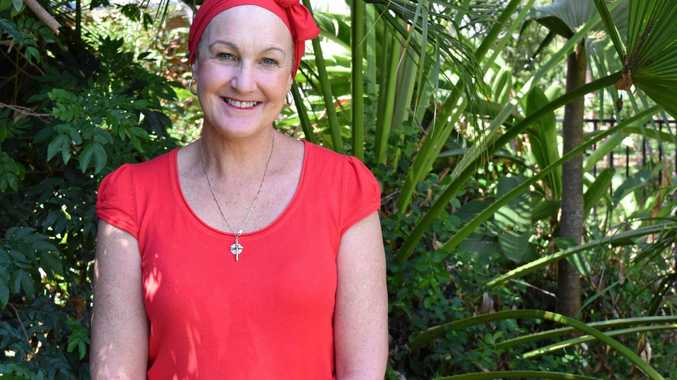 FIGHTING ON: Mackay nurse Julie Rowen is fighting lung cancer.
