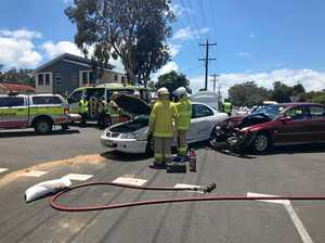 WATCH: Woman in serious condition following Bay crash