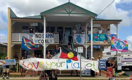 Adani Protests outside MP Costigan's Proserpine Office.
