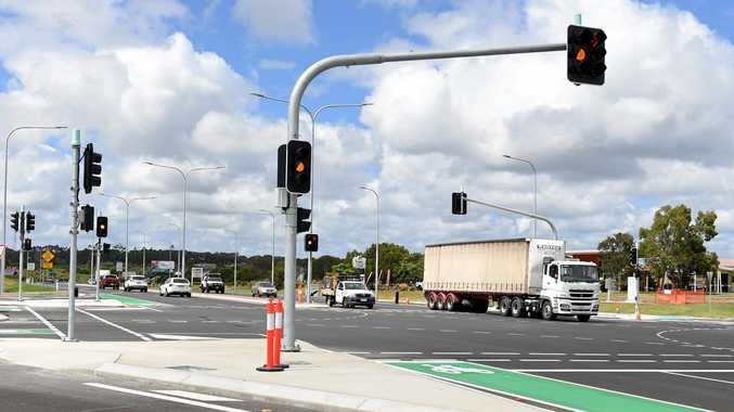 LIGHTS ON: Traffic lights at the  Urraween Rd and Maryborough-Hervey Bay Rd intersection are working.