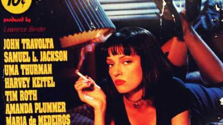 Thurman on a poster for Pulp Fiction. Picture: Supplied