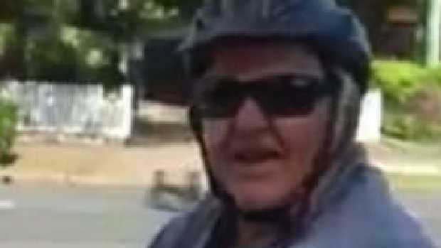 Man wearing terrible bike pants taunts woman on the street. Picture: Facebook/Kallangur & Surrounding Neighbourhood Watch Source: Facebook