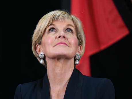 Australian Minister for Foreign Affairs Julie Bishop wears $35,000 earrings.