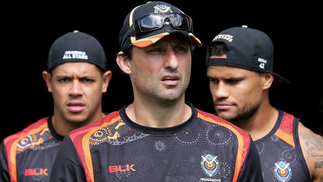 Laurie Daley coaching the Indigenous All Stars team.