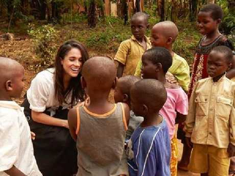 Meghan Markle recently visited Rwanda as part of World Vision Canada. Picture: Supplied/ Meghan Markle Instagram