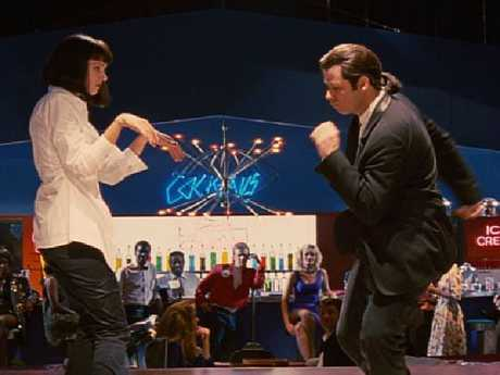 John Travolta and Uma Thurman in a scene from Pulp Fiction. Picture: Supplied